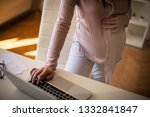 how she makes some extra income ... | Shutterstock . vector #1332841847