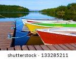 Lake In Asbyrgi Area Of...