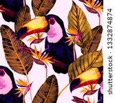 watercolor seamless pattern... | Shutterstock . vector #1332874874
