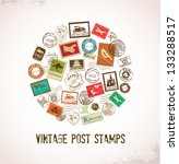 vintage vector background with... | Shutterstock .eps vector #133288517