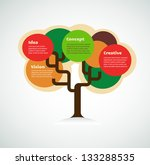 colorful tree with space for... | Shutterstock .eps vector #133288535