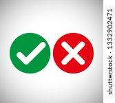 check mark icons   vector | Shutterstock .eps vector #1332902471