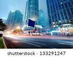 moving car with blur light... | Shutterstock . vector #133291247