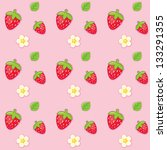 texture with strawberries on... | Shutterstock .eps vector #133291355