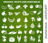 set of organic vegetables and... | Shutterstock .eps vector #133291697