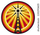 radio antenna symbol  wi fi...   Shutterstock .eps vector #133293605