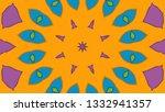 kaleidoscope design pattern   Shutterstock . vector #1332941357