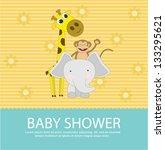baby shower card | Shutterstock .eps vector #133295621