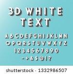 3d white text style. retro...   Shutterstock .eps vector #1332986507