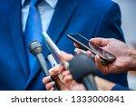 media interview   journalists...   Shutterstock . vector #1333000841