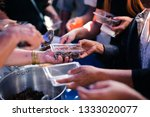 helping to alleviate hunger... | Shutterstock . vector #1333020077