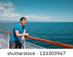the young man on the deck... | Shutterstock . vector #133303967