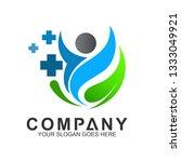 human   leaf   medical cross ... | Shutterstock .eps vector #1333049921