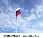 ragged flag of russia against... | Shutterstock . vector #1333060517