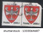 poland   circa 1980  postage... | Shutterstock . vector #1333064687
