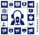 broadcasting icon set. 17... | Shutterstock .eps vector #1333090844