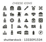 cheese icon set. 30 filled... | Shutterstock .eps vector #1333091534