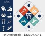 walk icon set. 13 filled walk... | Shutterstock .eps vector #1333097141