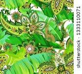 beautiful tropical seamless... | Shutterstock .eps vector #1333110071