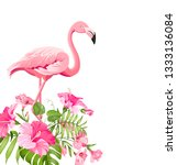 beautiful tropical image with... | Shutterstock .eps vector #1333136084