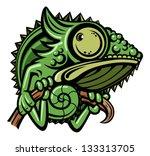 chameleon cartoon character...