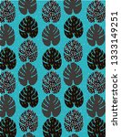 monstera leaves pattern | Shutterstock .eps vector #1333149251