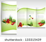 health food brochure design.... | Shutterstock .eps vector #133315439