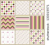 mothers day pattern collection | Shutterstock .eps vector #133315571