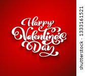 happy valentines day romantic... | Shutterstock . vector #1333161521