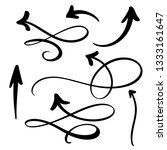 abstract arrows set. doodle... | Shutterstock . vector #1333161647