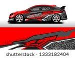 car wrap decal rally design... | Shutterstock .eps vector #1333182404