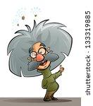 a cartoon genius scientist... | Shutterstock . vector #133319885
