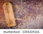 top view of wooden cutting... | Shutterstock . vector #1333224161