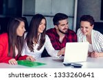 start up team of freelancers in ... | Shutterstock . vector #1333260641