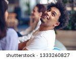 coworking meeting. startup team ... | Shutterstock . vector #1333260827
