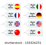 tags for purchase with flags of ... | Shutterstock . vector #133326251