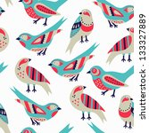 Stock vector bird seamless pattern 133327889