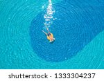drone aerial view of young man...   Shutterstock . vector #1333304237