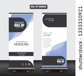 roll up business brochure flyer ...   Shutterstock .eps vector #1333310921