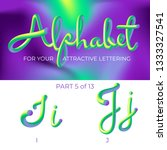 3d vector alphabet with rounded ...   Shutterstock .eps vector #1333327541