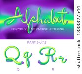 3d vector alphabet with rounded ...   Shutterstock .eps vector #1333327544