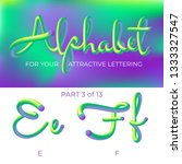 3d vector alphabet with rounded ... | Shutterstock .eps vector #1333327547