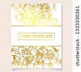 invitation greeting card with... | Shutterstock .eps vector #1333330361