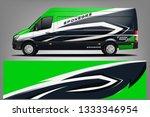 van wrap livery design. ready ...   Shutterstock .eps vector #1333346954