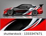 car wrap design vector  truck... | Shutterstock .eps vector #1333347671