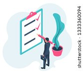 list completed tasks. vector... | Shutterstock .eps vector #1333360094