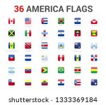 america flags of country. 36... | Shutterstock .eps vector #1333369184