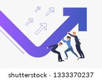 business people pushing... | Shutterstock .eps vector #1333370237