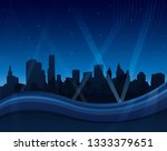 abstract blue waving background ...   Shutterstock .eps vector #1333379651