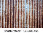 A Rusty Corrugated Iron Metal...